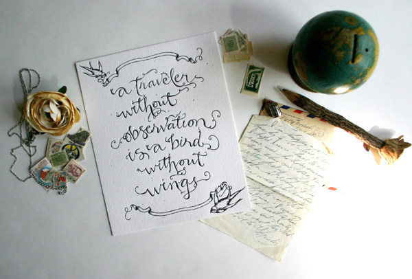 Travel Quote In Calligraphy