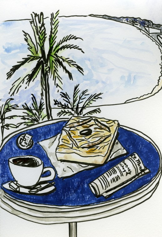 5. Pissasaladiere, an edible postcard from Nice