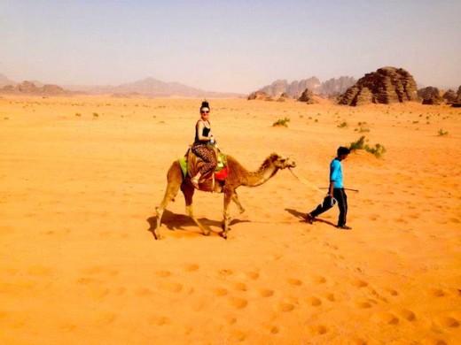 Christine Amorose in Wadi Rum