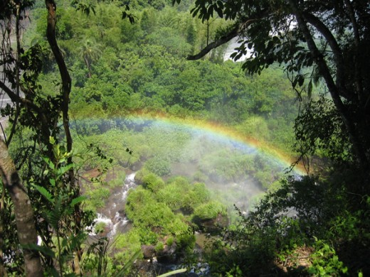 argentina iguazu falls rainbow
