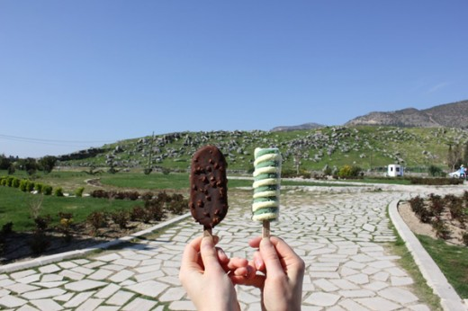 ice cream outside hierapolis