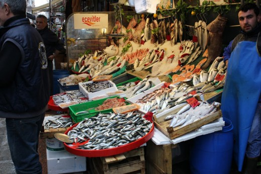 istanbul fish stall