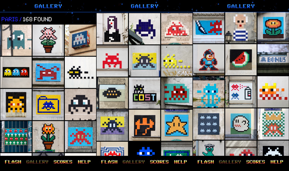 Flash Space Invaders